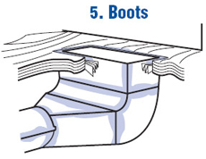 Seal Boots With Air Duct Sealant